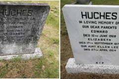 hughes white marble headstone before and after 1